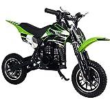 Superrio 49CC 2-Stroke Gas Power Mini Dirt Bike Dirt Off Road Motorcycle (Green)