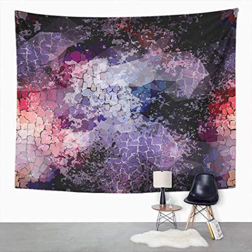 Y·JIANG - Tapiz abstracto, diseño geométrico con grietas para decoración del hogar, dormitorio, gran tapiz para colgar en la pared, para sala de estar, dormitorio, 60 x 80 pulgadas