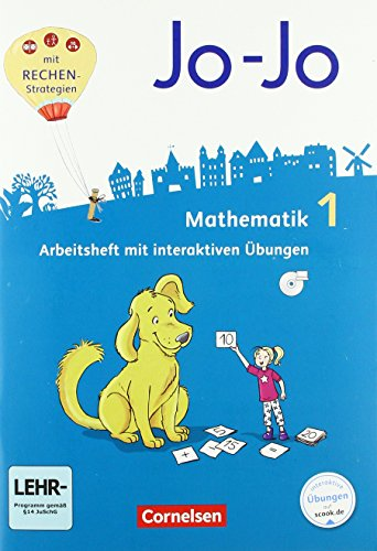 Jo-Jo Mathematik - Allgemeine Ausgabe 2018 - 1. Schuljahr: Arbeitsheft - Mit interaktiven Übungen auf scook.de und CD-ROM
