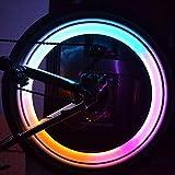 ZHUOTOP - 2 piezas led de colores para radios de bicicleta, con luz, brillantes