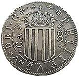 Réplica 1707 Reino de Aragón (estados españoles) 8 Reales - Felipe V COPIAR MONEDA
