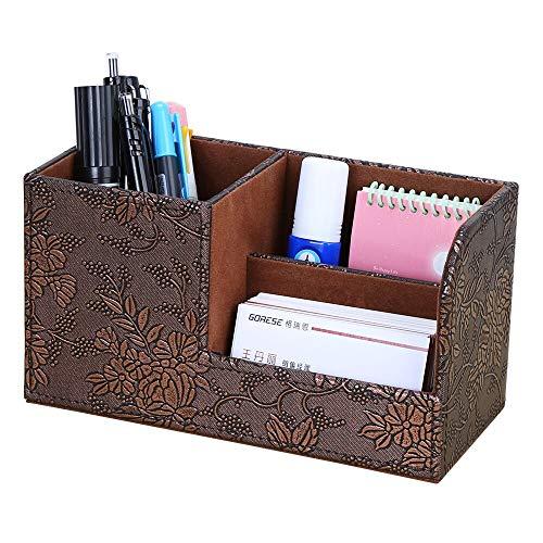 N / A Multifunktionale Stifthalter Büro Aufbewahrungstasche Marmor Textur PU Leder Schreibwaren Schreibtisch Aufbewahrungsbox Mintgrün Aufbewahrungsbox 20.3 * 9.3 * 11CM