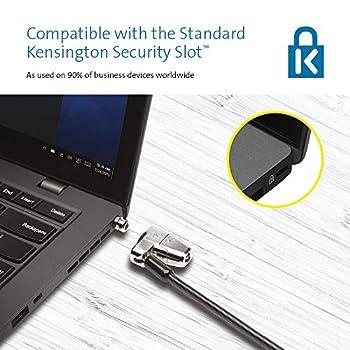 Kensington ClickSafe 2.0 Câble de Sécurité pour Ordinateurs Portables avec câble en Acier Carbone Pivotant et Rotatif - 1,8 m de Long (K64435WW)