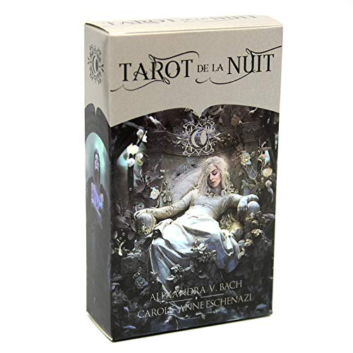 HEZHANG Mystic Montags Tarot Ein Deck Für Die Modernen Mystischen Tarotkarten Und Eguidebook Set Kartenspiel Gifts Arcana Tarot-Karten-Set-Weissagung,Tarot de la Nuit
