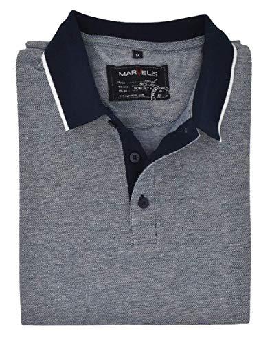 Marvelis Halbarm Poloshirt geknöpfter Kragen Pique Nachtblau Größe XXL