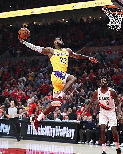 Póster de Lebron James Los Angeles Lakers de la celebridad del baloncesto de la NBA Champion decoración de la pared, tamaño 28 cm x 43 cm, impresión decorativa para regalo