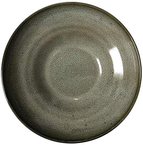 ZHEYANG Dish Set Bowl Ceramic Dish Soup Plate, Porridge Folk Culture Bowl Pasta Folk Culture