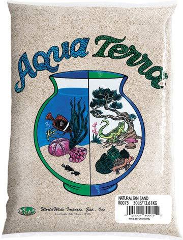 Nature's Ocean Aqua Terra Natural Tan Sand 5 lb Bag, Natural Aquarium Sand