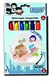 Batman- Set de rotuladores y esponja para el baño con 6 colores diferentes (Molto 17747) , color/modelo surtido