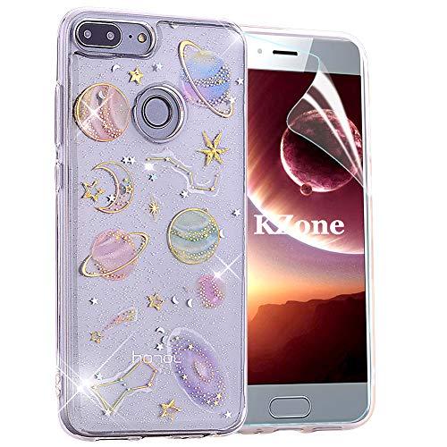 Cover Huawei Honor 9 Lite,OKZone [Serie Cielo stellato] Custodia Lucciante con Brillantini Glitters Ultra Sottile Design Case Cover di Alta Qualità in Silicone TPU Bumper Cover per Huawei Honor 9 Lite