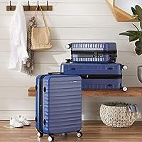 Amazon Basics - Trolley rigido Premium con rotelle pivotanti e lucchetto TSA integrato - 78 cm, Blu #7