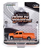 2018 Chevy Silverado 3500HD Dually Service Bed Truck w/Snow Plow Tangier Orange Dually Drivers Series 6 1/64 Diecast Model Car by Greenlight 46060 B