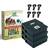 Mice&Co Portacebos para Ratones con Raticida - Estación de Cebo para Pequeños Roedores con Veneno | Pack 6 Portacebos 150g Cebo