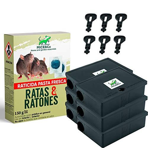 Mice&Co Portacebos para Ratones con Raticida - Estación de Cebo para Pequeños...