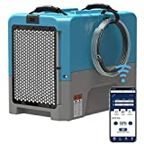 ALORAIR LGR Industrial Commercial Dehumidifier Auto Shut Off with Pump, 5 Years Warranty, Compact, APP Control, cETL Listed, up to 180 PPD (Saturation), for Garages, and Flood Restoration, Blue