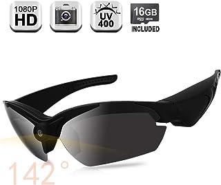 Cámara oculta 1080P HD con ángulo de visión amplio de 140 grados soporte para tomar fotos lentes polarizadas UV400 tarjeta de memoria integrada de 16 GB