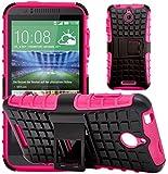 G-Shield Hülle für HTC Desire 510 Stoßfest Schutzhülle mit Ständer - Rosa