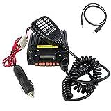 QYT KT-8900R Mobile Transceiver Radio Tri-Band VHF/UHF Mini Car Radio 25W Amateur (HAM) Radio, with Programming Cable