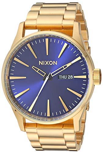 Nixon Reloj Hombre, Nixon Sentry SS - Cuarzo Color Dorado (One Size, Gold)
