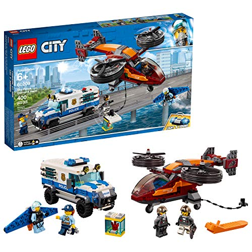 LEGO City Sky Police Diamond Heist 60209 Building Kit , New 2019 (400 Piece)