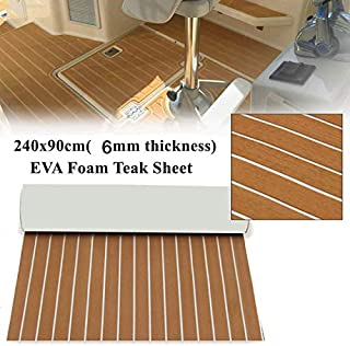 EVA Foam Faux Teak Sheet Boat Yacht Synthetic Teak Decking Marine Mat
