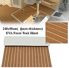 EVA Foam Faux Teak Sheet Boat Yacht Synthetic Teak Decking Marine Mat