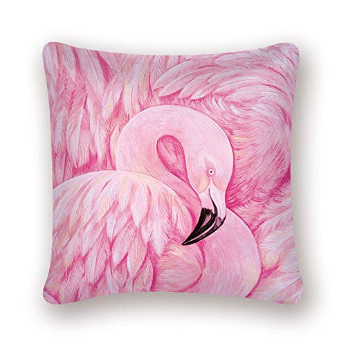 nobrand Flamingo Tropical Plant Kissenbezug Dekokissen Tukan Pink Nordic Home Decoration Sofa Dekorativer Kissenbezug LN070 45 * 45cm