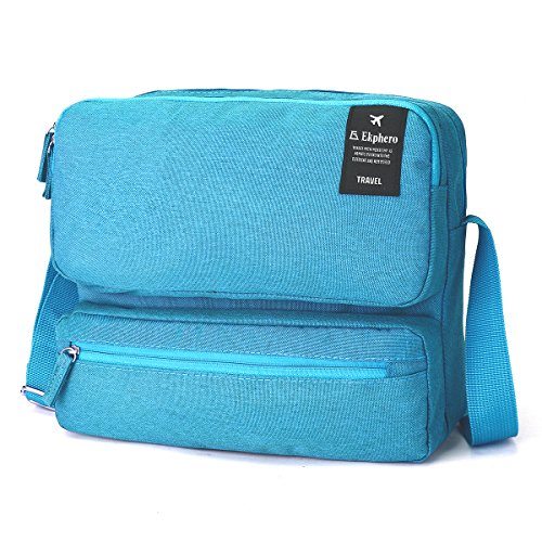 Shoulder Bags for Men and Women, Tezoo Large Capacity Side Bag Messenger Cross Body Bag Multi Pockets Ipad Bag Passport Bag Travel Outdoor Casual Multifunctional Blue
