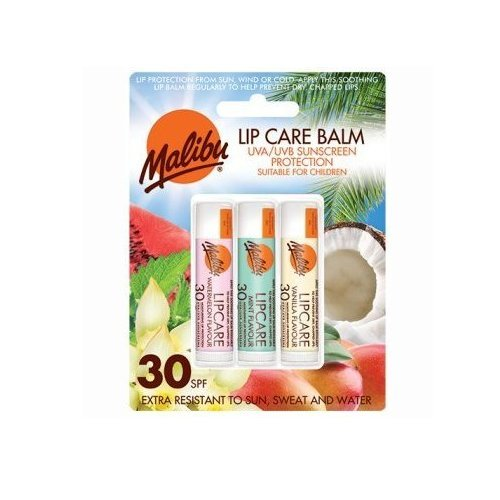 Malibu Blister Lipbalm with SPF30, Watermelon/Mint/Vanilla 12 ml
