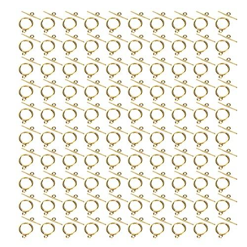 Suministros para hacer joyas, convenientes, resistentes al desgaste, resistentes cierres de palanca para aretes, para colgantes, para manualidades, para collares para pulseras(Oro antiguo)