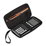 BOVKE Hard Graphing Calculator Carrying Case for Texas Instruments TI-84 Plus CE/TI-83 Plus CE/Casio fx-9750GII, Extra Zipped Pocket for USB Cables, Manual, Pencil, Ruler and Other Items, Black
