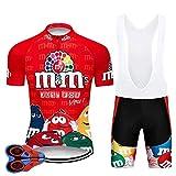Moxilyn Ropa de Ciclismo para Hombre Traje de Bicicleta Conjunto de Verano Top + Bib Shorts...