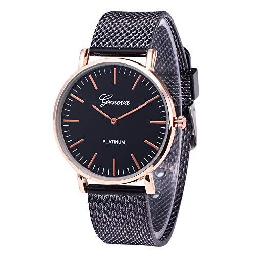 Hffan Herren Uhren Ultra Dünne Schwarze Minimalistische Quartz mit Datumsanzeige