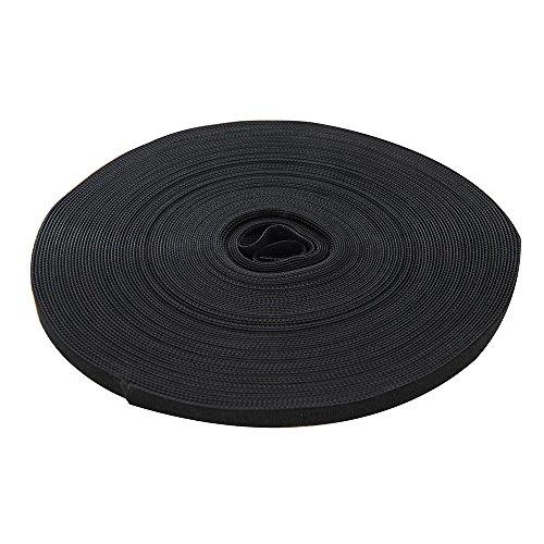 Cinta autoadhesiva de velcro, color negro, negro, 419854