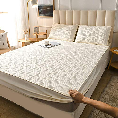 GTWOZNB Comfortable Sheets Machine Washable Breathable Fabric Bed sheet single piece cotton thickening-2_160*200cm