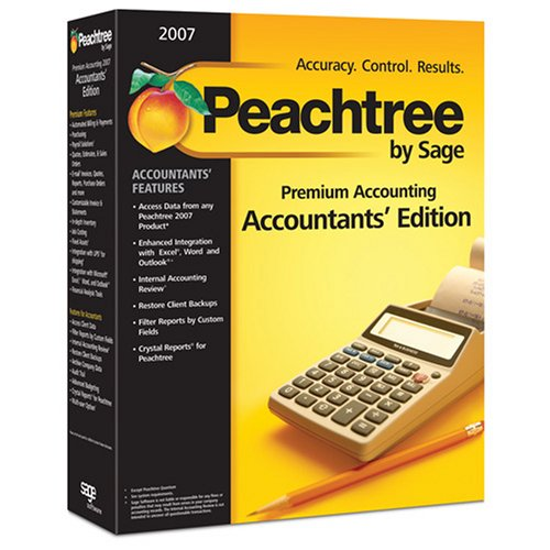 Peachtree By Sage Premium Accounting 2007 - Accountants