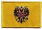 Flaggen Aufnäher Russland Zar Nikolaus Fahne Patch + gratis Aufkleber, Flaggenfritze®