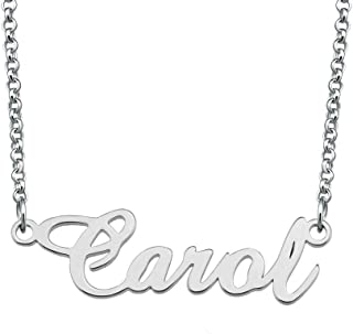 Personalized Custom Any Name Necklace 925 Sterling Silver Initial Pendant Jewelry for Women Men