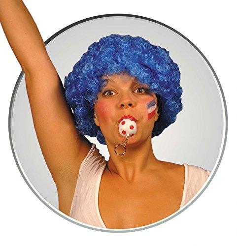 Party Pro- Wig Pop Red Perruque, 830104, Bleu, Taille Unique