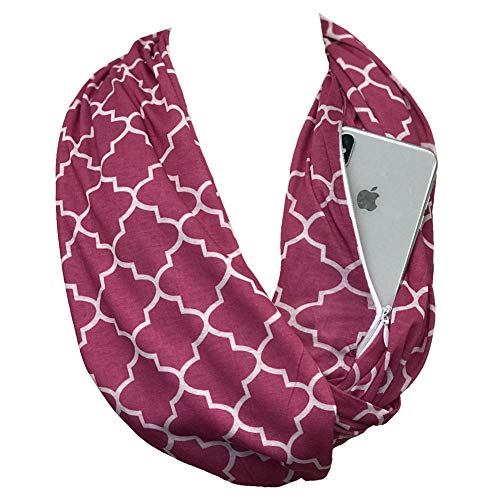 Pop Fashion Pink Scarf, Pink Infinity Scarf, Colorful Scarf, Decorative Scarves with Pattern, Neck Scarf