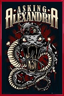 1art1 Asking Alexandria Poster and Frame (Plastic) - Stand Up and Scream, Snake (36 x 24 inches)