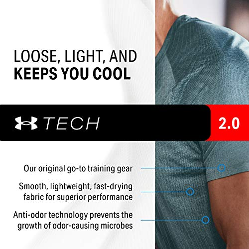 Under Armour Men's Tech 2.0 1/2 Versatile Warm, Light and Breathable Zip Up Top for Working Out, Carbon Heather/Black, M