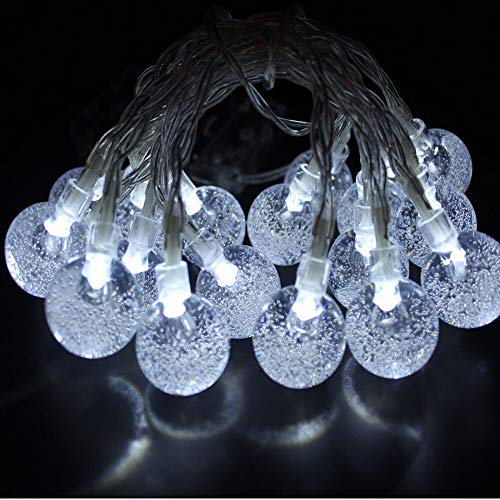 XKMY String lights Outdoor String Lights Patio Party Yard Garden Wedding 20 Solar Powered LED Bulbs Halloween Christmas New Year Decor (Color : A)