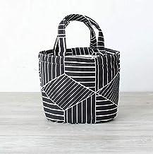 Fashion and High Quality Insulation Round Cartoon Storage Bag Lunch Box Bag(Black)