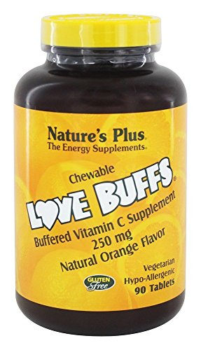 Natures Plus Love Buffs Chewable Buffered Vitamin C Supplement Natural Orange 90 tabs