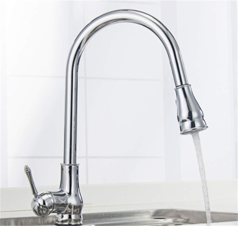 Faucet Modern Luxury Pull-Out Kitchen Faucet Spout Brass Construction Ceramic Cartridge Zinc Handle