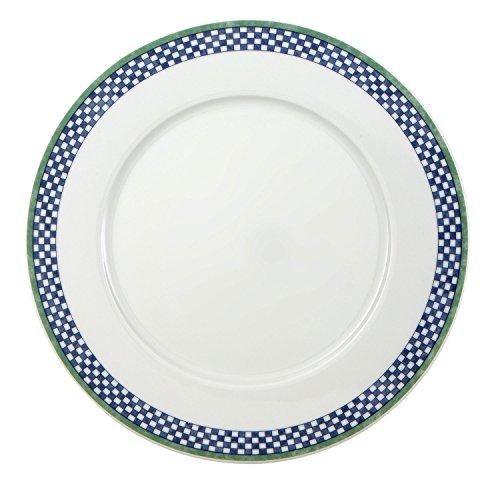 Villeroy & Boch Switch 3 Castell Speiseteller, 27 cm, Porzellan, Weiß/Blau/Grün