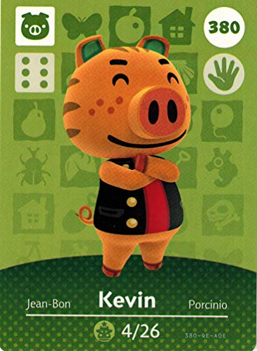 Nintendo Animal Crossing Happy Home Designer Amiibo Card Kevin 380/400 USA Version