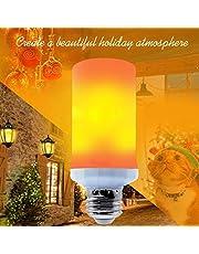 【2020年改良型】キャンドルライト イルミネーション 飾り led電球 フレームランプ 蝋燭ロウソク 揺らぐ炎 装飾 省エネe26 3モードイルミネーション クリスマス 飾り (光源方向:上方)