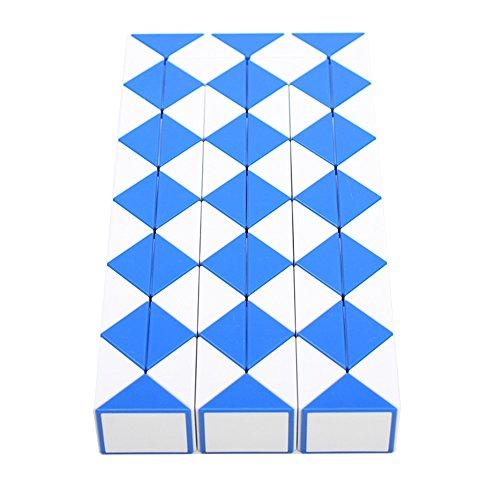 MZStech Magia Serpiente Twist Puzzle Twisty Toy Colección 72 Cuñas Magic Ruler (Azul)